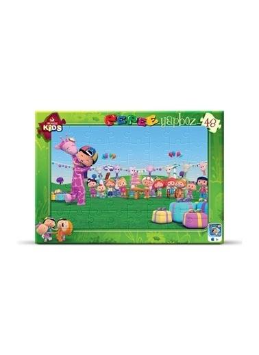 Art Puzzle Art Puzzle Frame Pepee' Nin Doğum Günü Partisi 48 Parça Puzzle  Renksiz